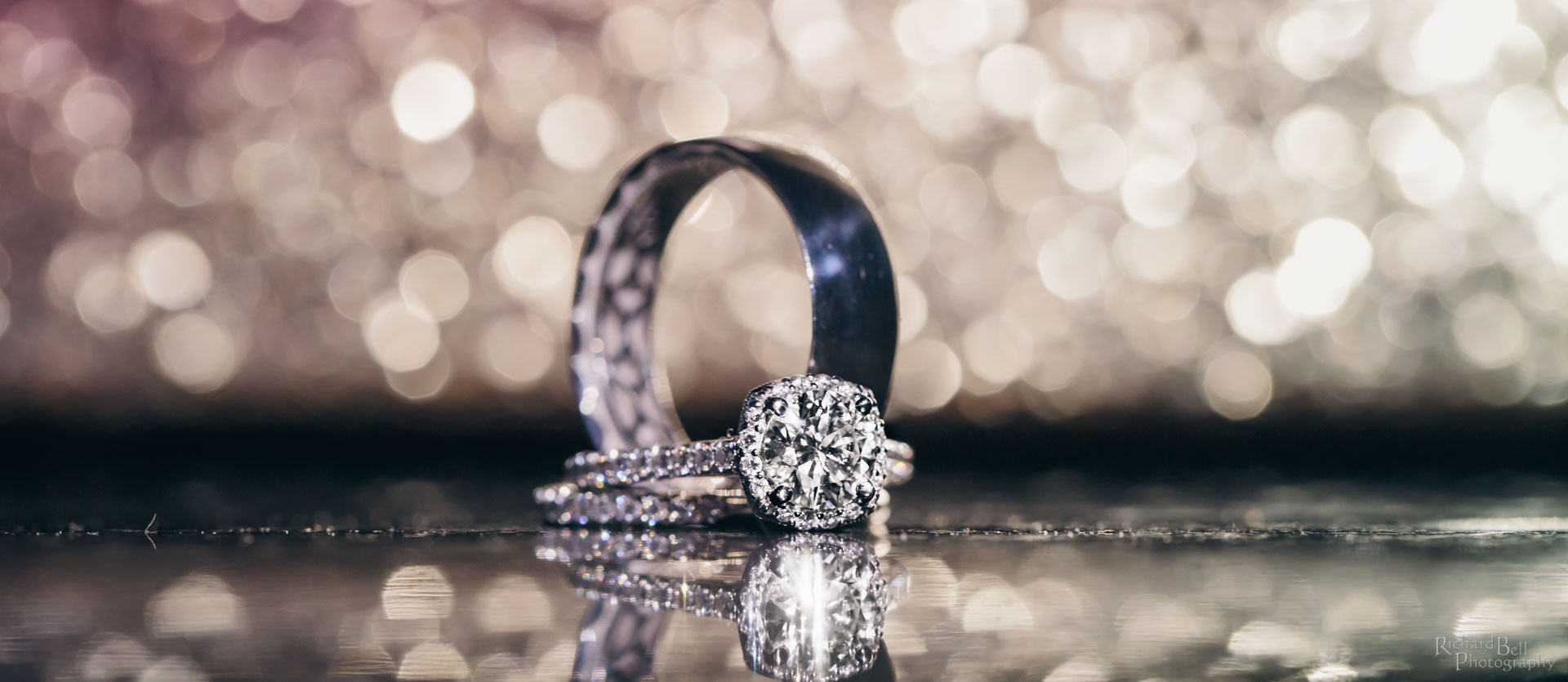Glittery and rings