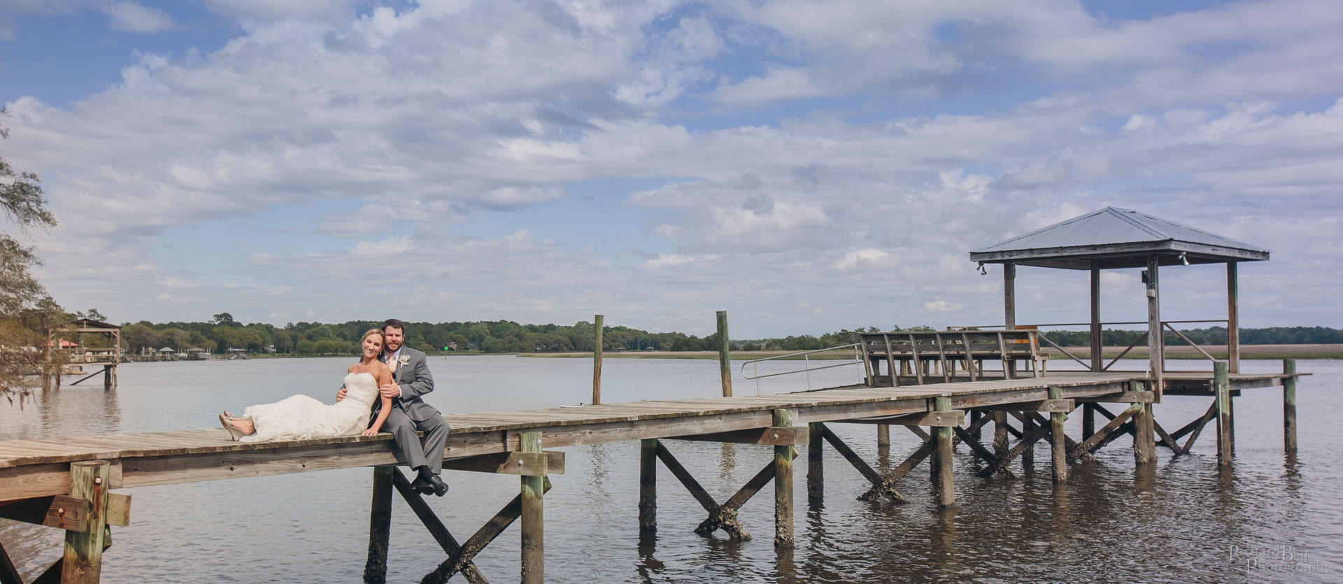 Leigh and Angelo on the dock