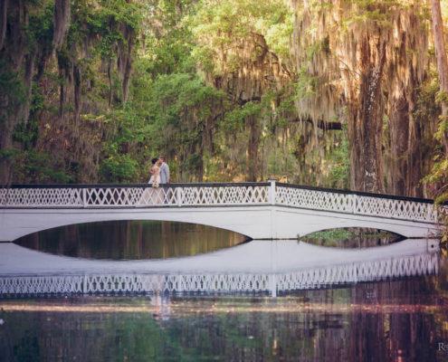 Bride and Groom on White Bridge