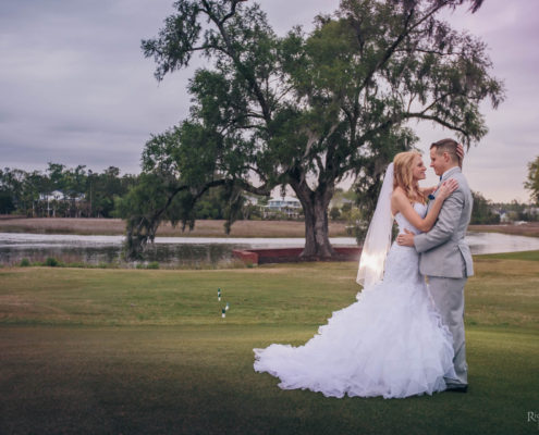 Bride and Groom at Dunes West