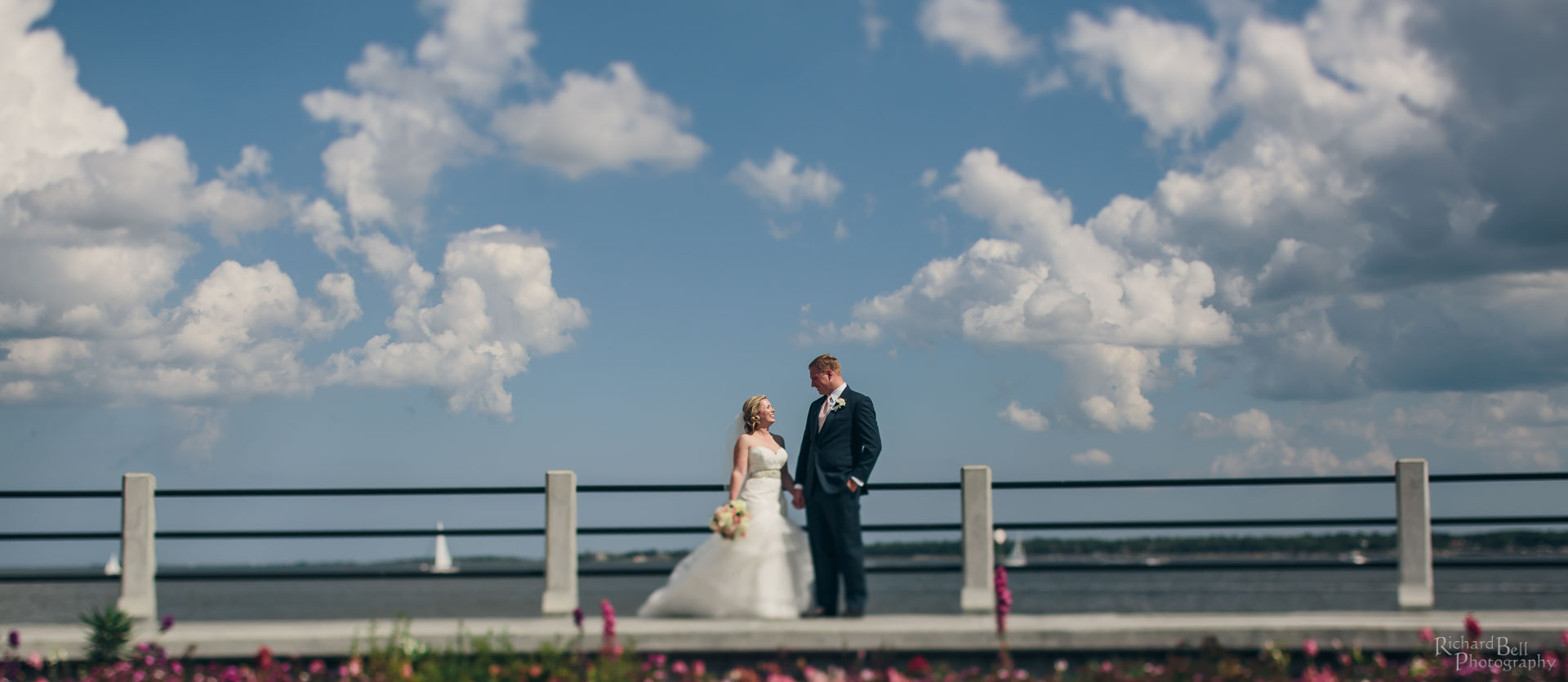 Bride and Groom at Battery