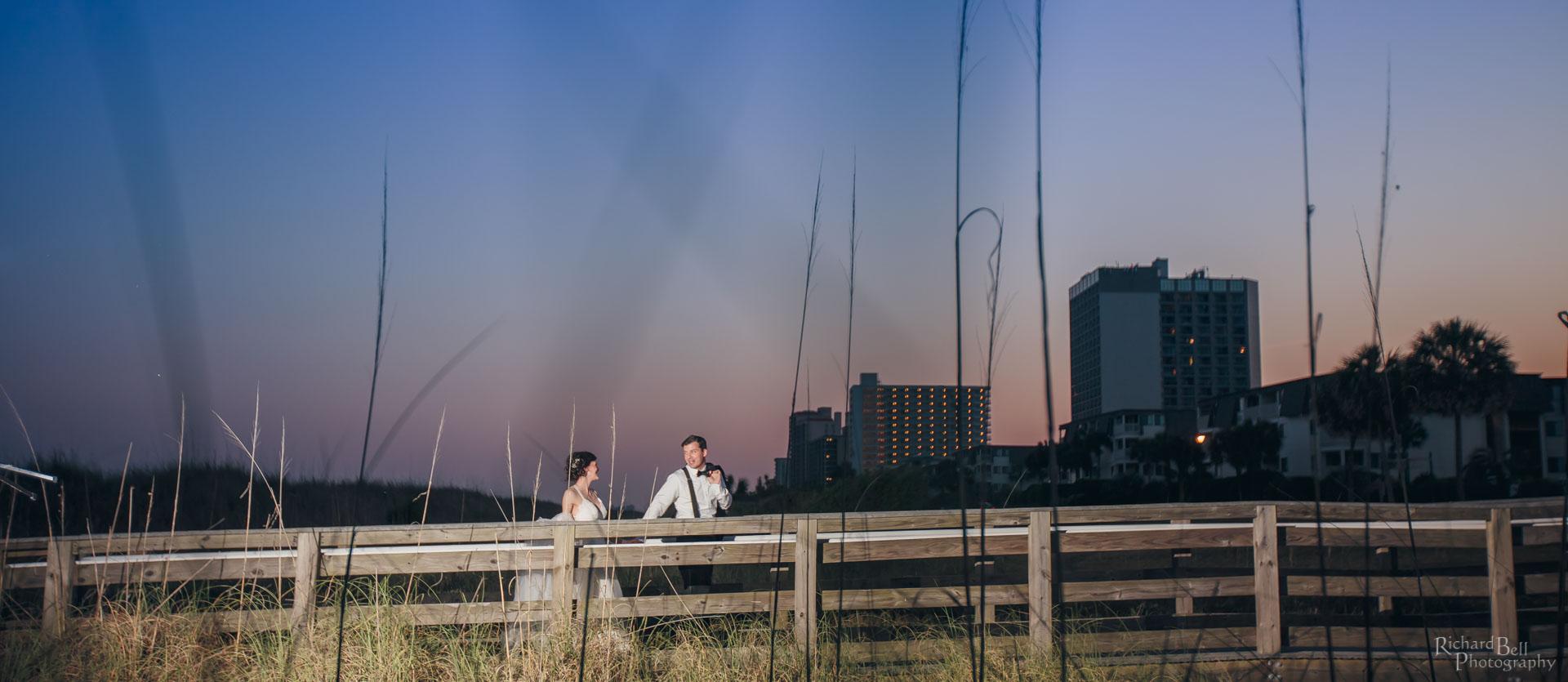 Bride and Groom in Myrtle Beach