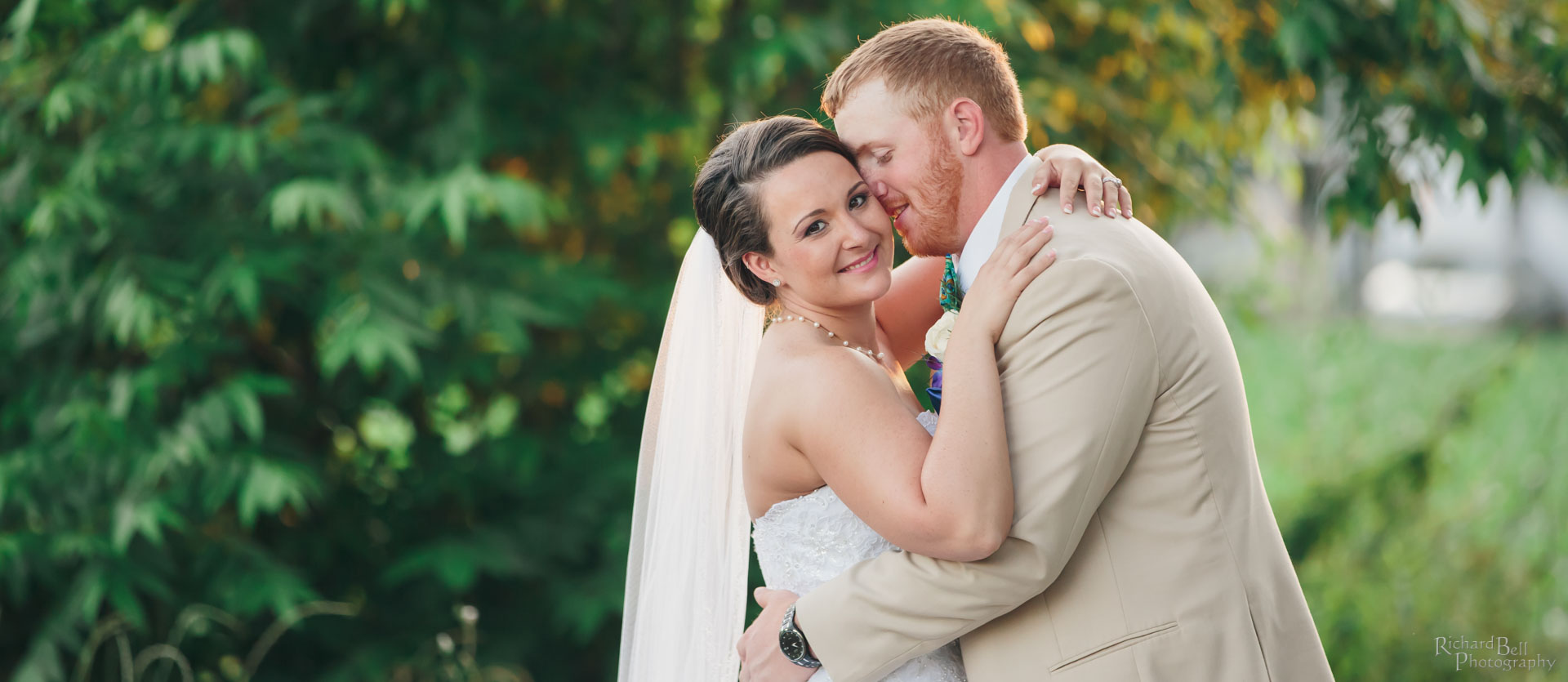 Bried and Groom Outside