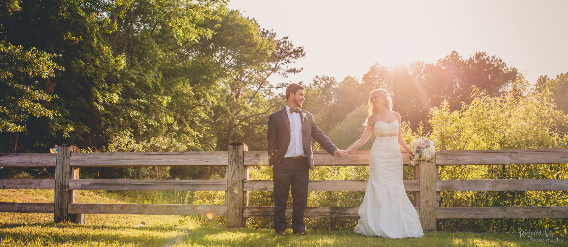 Sunny Bride and Groom