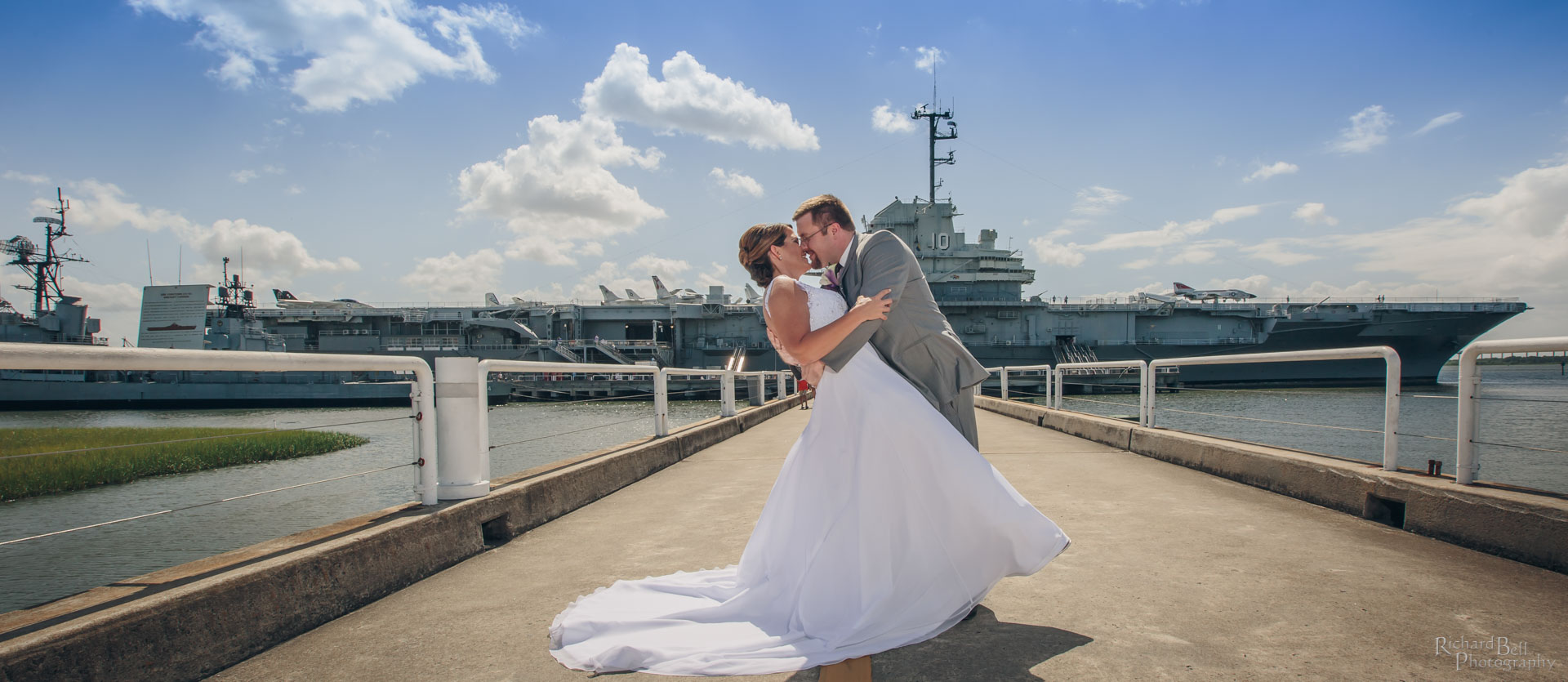 Bride and Groom at Yorktown
