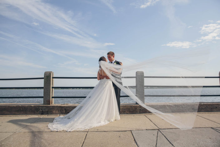 Bride and Groom at the Battery