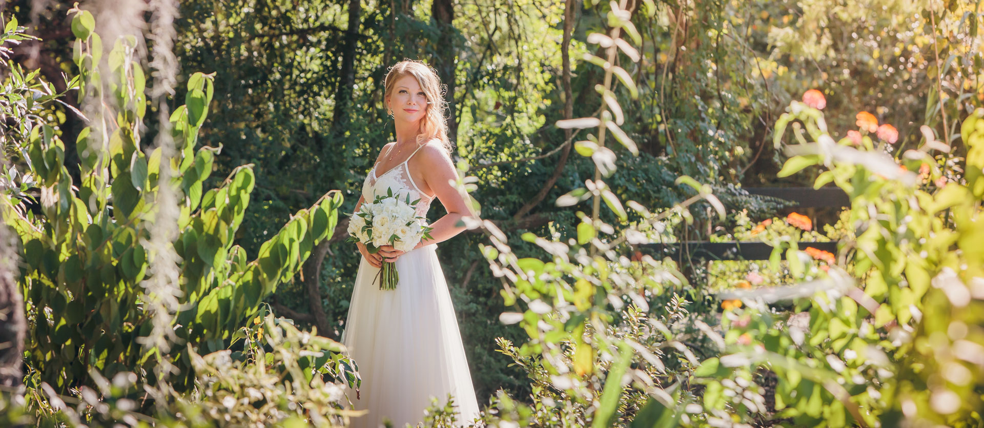 bride at magnolia