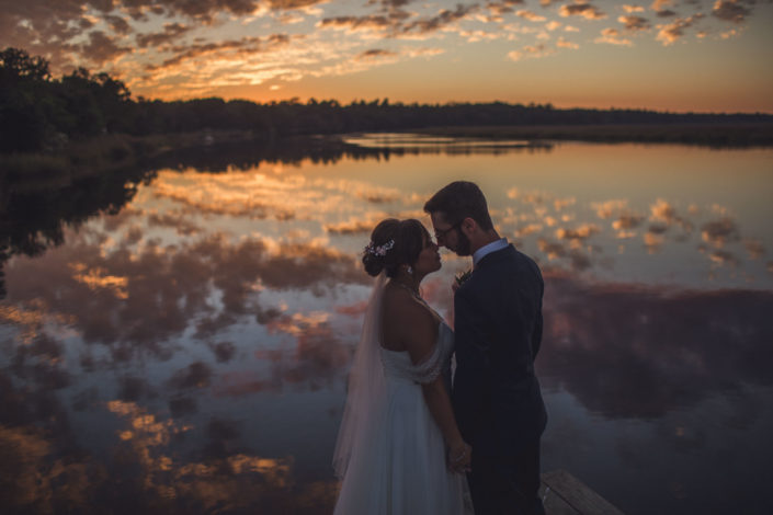 Magnolia Plantation Wedding Sunset