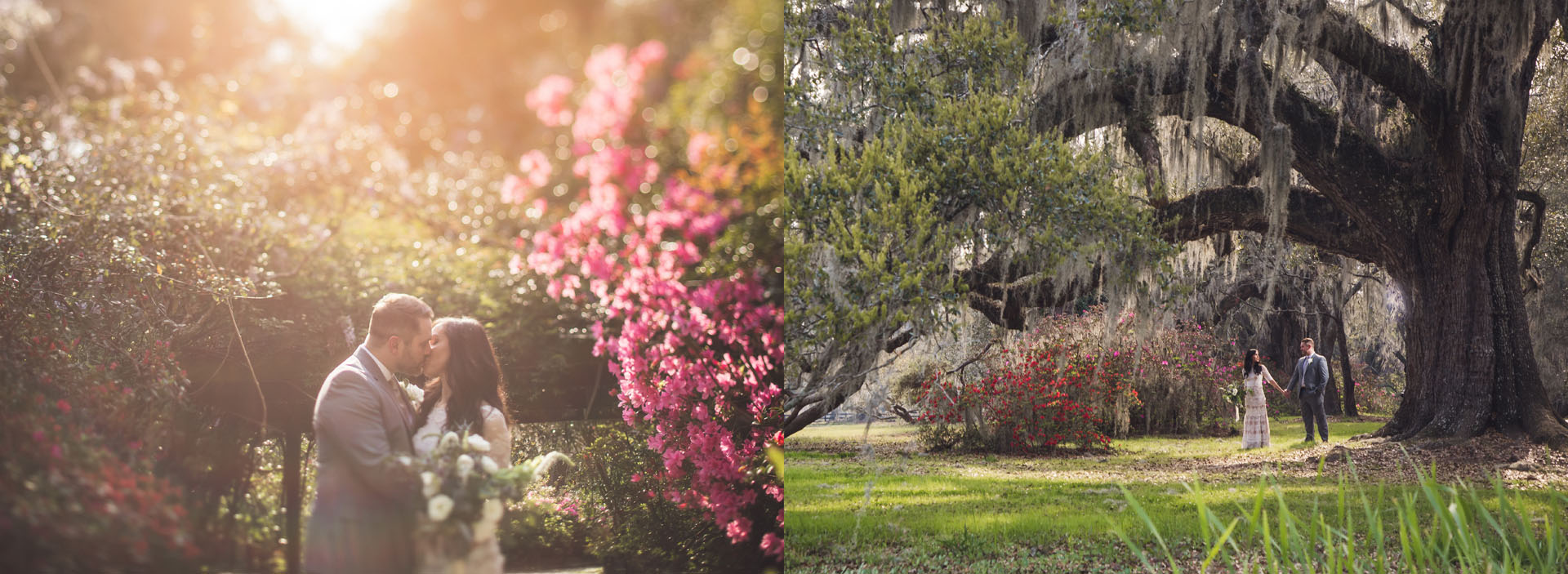 Magnolia Plantation Wedding During Azaleas