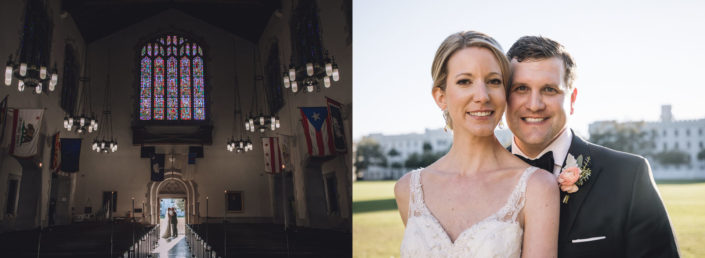 Wedding photography at Summerall Chapel