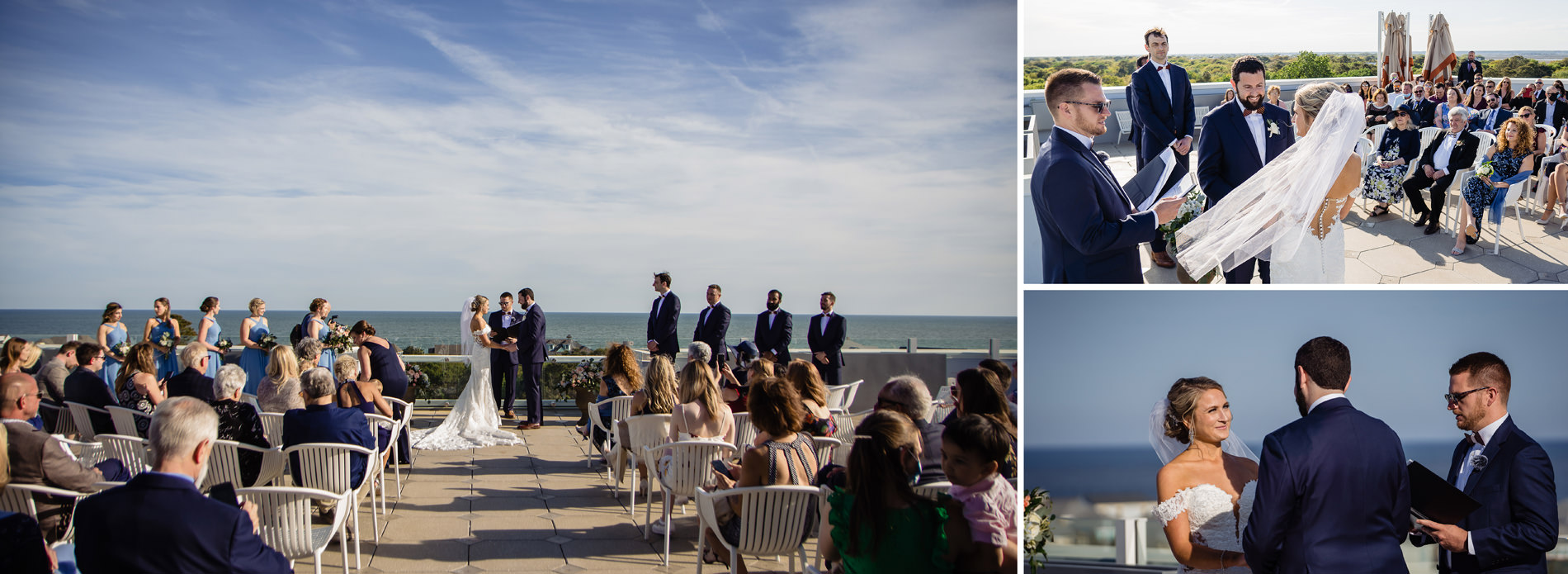The Rooftoop Terrace Ceremony Venue at Wild Dunes Sweetgrass Inn